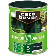 Cetabever schuur & tuinhuis beits dekkend zijdeglans donkergroen - 750 ml.