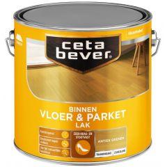 Cetabever vloer- & parketlak transparant zijdeglans antiek grenen 0116 - 2,5 liter