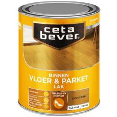 Cetabever vloer- & parketlak transparant zijdeglans licht eiken 0106 - 750 ml.