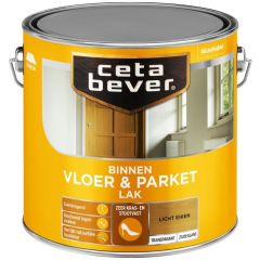 Cetabever vloer- & parketlak transparant zijdeglans licht eiken 0106 - 2,5 liter