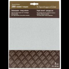 Copenhagen Gold schuurpapier droog waterproof - middel grof 28 x 23 cm (3 stuks)