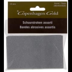 Copenhagen Gold schuurstroken velcro - 280/400/600 16,5 x 12,2 x 6 cm (10 stuks)