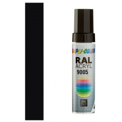 Dupli-Color acryl lakstift RAL 9005 - 12 ml.