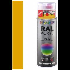 Dupli-Color acryllak hoogglans RAL 1032 brem geel - 400 ml