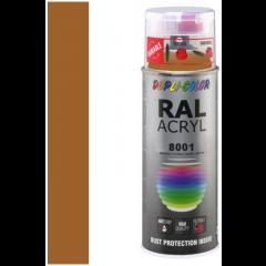 Dupli-Color acryllak hoogglans RAL 8001 oker bruin - 400 ml