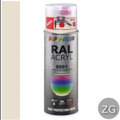 Dupli-Color acryllak zijdeglans RAL 9001 creme wit - 400 ml