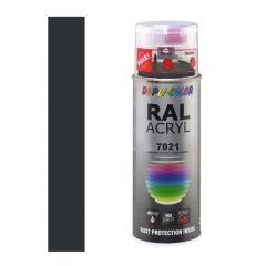 Dupli-Color acryllak zijdemat RAL 7021 zwart grijs - 400 ml.