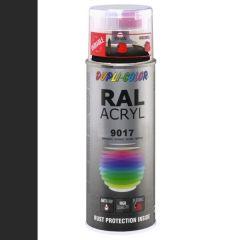 Dupli-Color acryllak hoogglans RAL 9017 verkeerszwart - 400 ml.