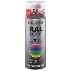 Dupli-Color acryllak zijdemat RAL 7016 antracietgrijs - 400 ml.