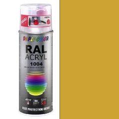 Dupli-Color acryl hoogglans RAL 1004 goudgeel - 400 ml.
