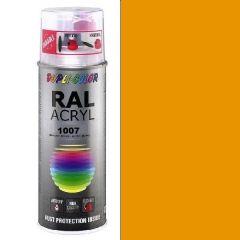 Dupli-Color acryl hoogglans RAL 1007 narcissengeel - 400 ml.