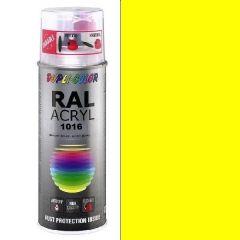 Dupli-Color acryl hoogglans RAL 1016 zwavelgeel - 400 ml.