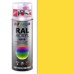 Dupli-Color acryl hoogglans RAL 1018 zinkgeel - 400 ml.