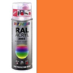 Dupli-Color acryl hoogglans RAL 2003 pastel oranje - 400 ml.