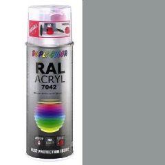 Dupli-Color acryl hoogglans RAL 7042 verkeersgrijs A - 400 ml.