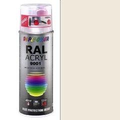 Dupli-Color acryl hoogglans RAL 9001 crèmewit - 400 ml.