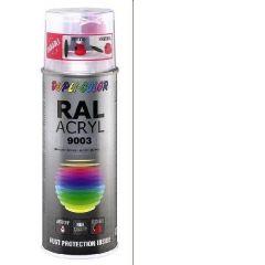 Dupli-Color acryl hoogglans RAL 9003 signaalwit - 400 ml.