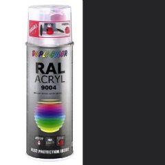 Dupli-Color acryl hoogglans RAL 9004 signaalzwart - 400 ml.