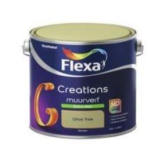 Flexa creations muurverf extra mat olive tree - 2,5 liter