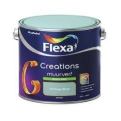 Flexa creations muurverf extra mat vintage blue - 2,5 liter