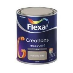 Flexa creations muurverf krijt authentic grey - 1 liter