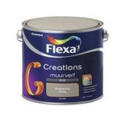 Flexa creations muurverf krijt authentic grey - 2,5 liter