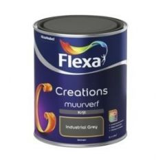 Flexa creations muurverf krijt industrial grey - 1 liter