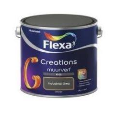 Flexa creations muurverf krijt industrial grey - 2,5 liter