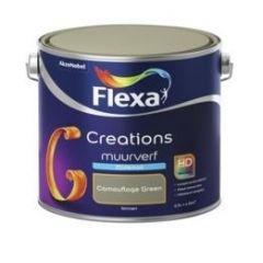 Flexa creations muurverf zijdemat camouflage green - 2,5 liter