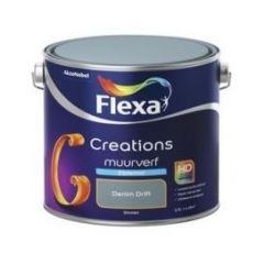 Flexa creations muurverf zijdemat denim drift - 2,5 liter