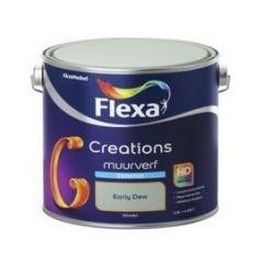 Flexa creations muurverf zijdemat early dew - 2,5 liter