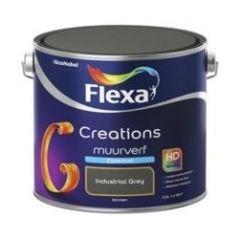 Flexa creations muurverf zijdemat industrial grey - 2,5 liter