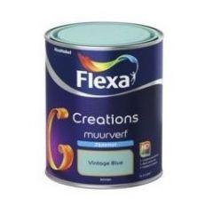 Flexa creations muurverf zijdemat vintage blue - 1 liter
