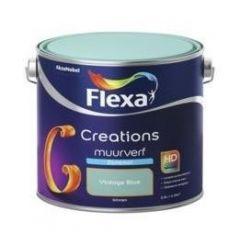 Flexa creations muurverf zijdemat vintage blue - 2,5 liter