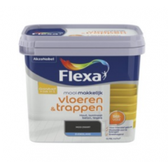 Flexa mooi makkelijk vloeren & trappen lak zwart - 750 ml.