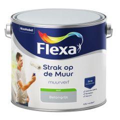 Flexa strak op de muur matte muurverf beton - 2,5 liter