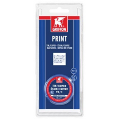Griffon print draadsoldeer tin/koper 99/1 harskern Ø 0,7 mm spoel - 50 gram