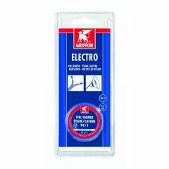 Griffon electro draadsoldeer tin/koper 99/1 harskern Ø 1,5 mm. - 50 gram