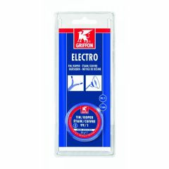 Griffon electro draadsoldeer tin/koper 99/1 harskern Ø 3 mm. - 50 gram