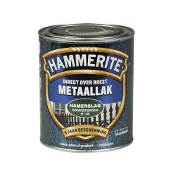 Hammerite direct over roest metaallak hamerslag donkergroen - 750 ml.