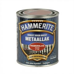 Hammerite direct over roest metaallak hamerslag rood - 750 ml.