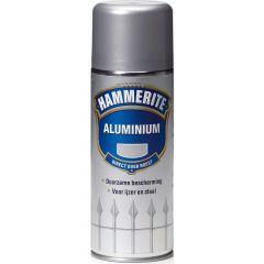 Hammerite direct over roest metaallak verspuitbaar aluminium - 400 ml.