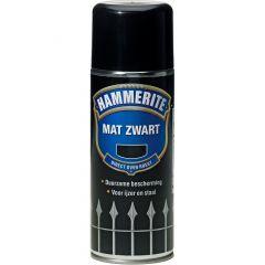 Hammerite direct over roest metaallak verspuitbaar mat zwart - 400 ml.