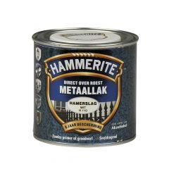Hammerite direct over roest metaallak hamerslag wit - 250 ml.