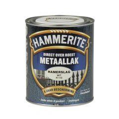 Hammerite direct over roest metaallak hamerslag wit - 750 ml.