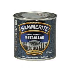 Hammerite direct over roest metaallak hamerslag zilvergrijs - 250 ml.
