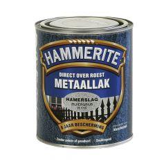 Hammerite direct over roest metaallak hamerslag zilvergrijs - 750 ml.