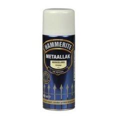 Hammerite direct over roest metaallak hoogglans verspuitbaar crème - 400 ml.