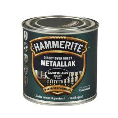 Hammerite direct over roest metaallak zijdeglans zwart - 250 ml.