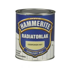 Hammerite radiatorlak hoogglans gebroken wit - 250 ml.